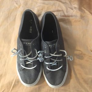 Sperry Charcoal and Silver Slip On